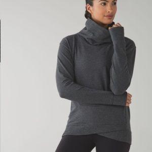 Lululemon On The Double Pullover 10 Heathered Grey